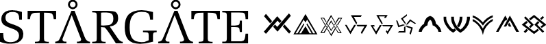 Stargate font
