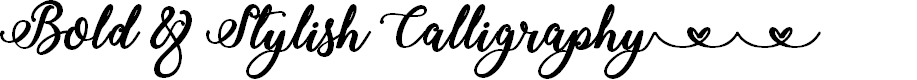 Preview image for Bold & Stylish Calligraphy Font