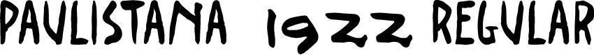 Preview image for Paulistana 1922 Regular Font