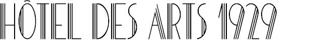 Preview image for HOTEL DES ARTS 1929 Font