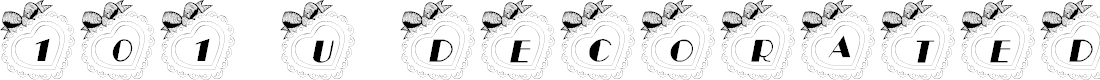 Preview image for 101! U Decorated My Heart Font
