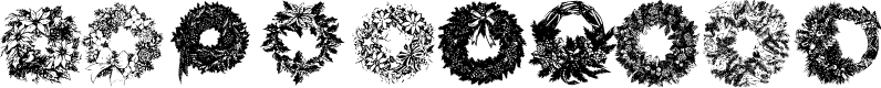 Preview image for Christmas Wreaths Font