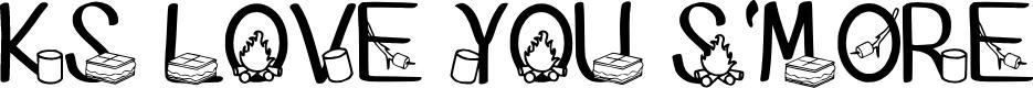 Preview image for Ks I Love You Smore Regular Font