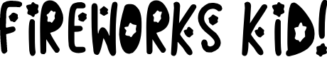 Preview image for Fireworks Kid Font