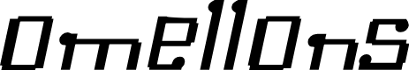 Preview image for Omellons MediumItalic