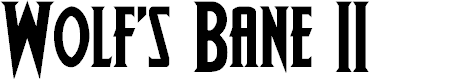 Preview image for Wolf's Bane II Font