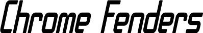 SF Chrome Fenders Condensed Oblique