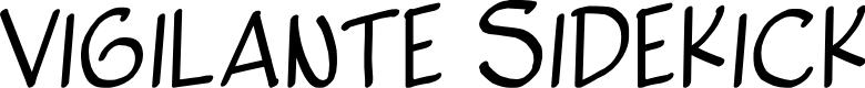 Preview image for Vigilante Sidekick Font