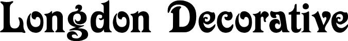 Preview image for Longdon Decorative Font