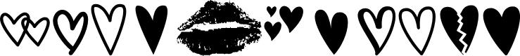 Preview image for MF Love Dings 2 Regular Font