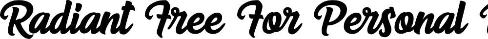 Preview image for Radiant Free For Personal Use Font