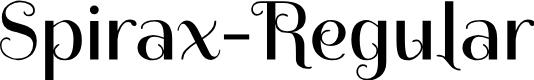 Preview image for Spirax-Regular Font