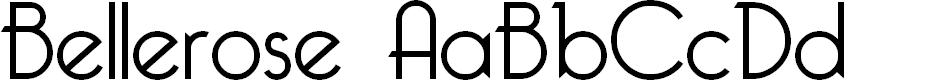 Preview image for Bellerose Font