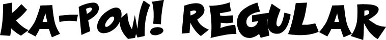 Preview image for Ka-Pow! Regular Font