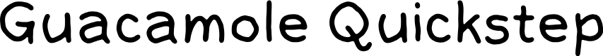 Preview image for GuacamoleQuickstep Font