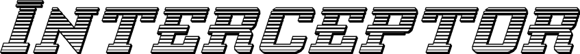 Preview image for Interceptor Chrome Italic