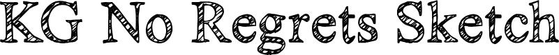 Preview image for KG No Regrets Sketch Font