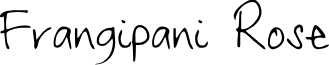 Frangipani Rose font