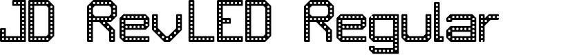 Preview image for JD RevLED Regular Font