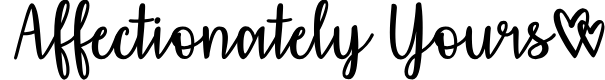 Preview image for Affectionately Yours Font