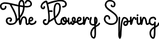 Preview image for The Flowery Spring Font