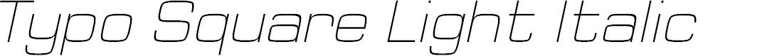 Preview image for Typo Square Light Italic Demo