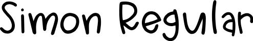 Preview image for Simon Regular Font