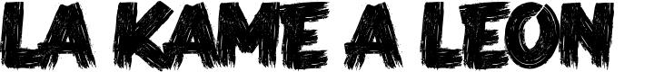 Preview image for LA KAME A LEON    Font