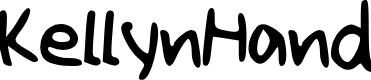 Preview image for Kellyn_Hand Font