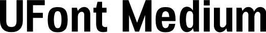 UFont Medium