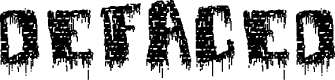 Preview image for deFaced Font