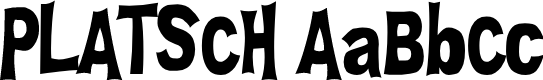 Preview image for PLATSCH Font