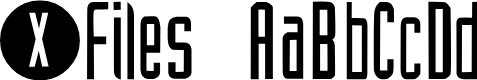 Preview image for XFiles Font