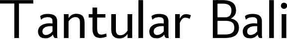Preview image for Tantular Bali Font