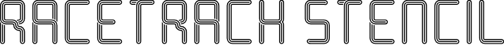Racetrack Stencil