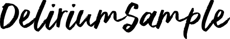 Preview image for DeliriumSample Font