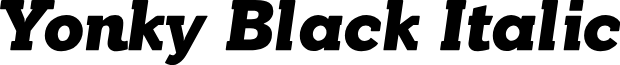 YonkyBlack-Italic