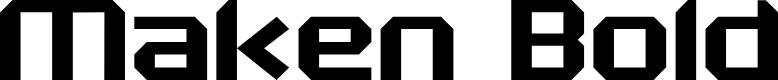 Preview image for Maken Bold Font