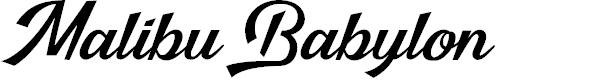 Preview image for Malibu Babylon Font