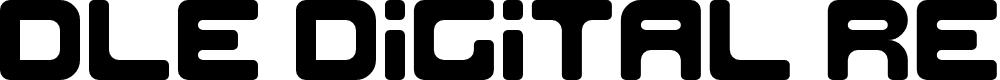 Preview image for DLE Digital Regular Font