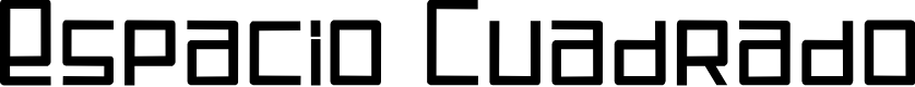 Preview image for Espacio Cuadrado Font