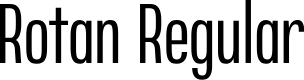 Preview image for Rotan Regular Font