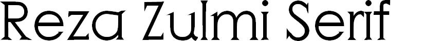 Preview image for Reza Zulmi Serif Font
