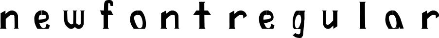 Preview image for newFont-Regular Font