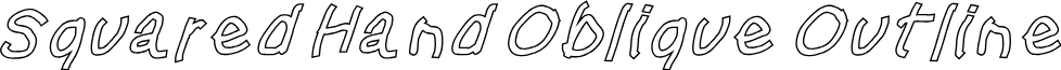 Squared Hand Oblique Outline