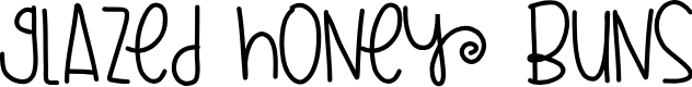 Preview image for GlazedHoneyBuns Font