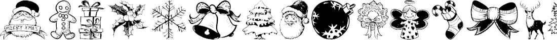 Preview image for Hand Christmas Doodle Font