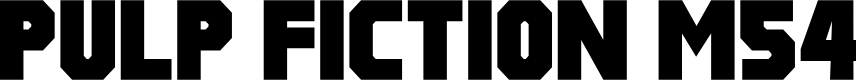 Preview image for Pulp Fiction M54 Font