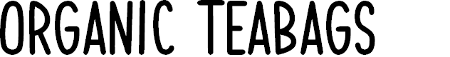 Preview image for Organic Teabags Font