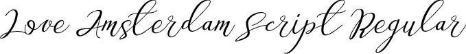 Preview image for Love Amsterdam Script Regular